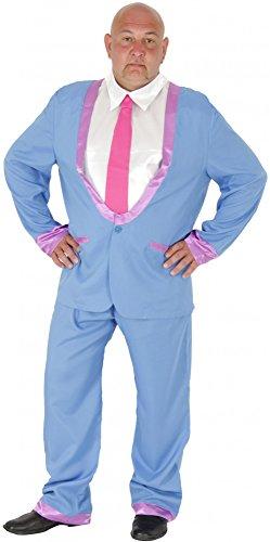 Foxxeo 40102 | Anzug 50er Jahre Teddy Boy Kostüm Rock in Roll für Herren Disco Teds Ted Cosh Boys 60er 70er 80er 90er Gr. M - XL, (Boy Kostüm Child's Teddy)