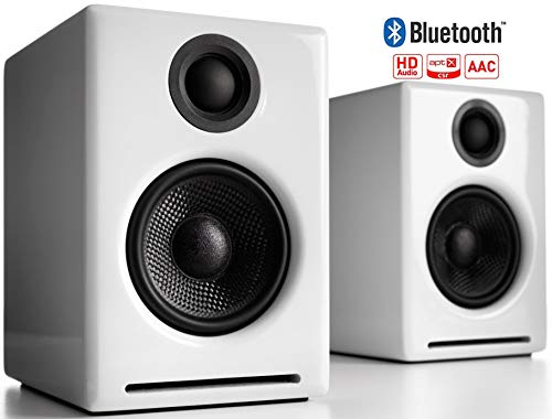 Audioengine A2+ Casse Bluetooth Amplificate 60W DAC 24Bit Integrato e Amplificatore Codec Bluetooth aptX Connessione Diretta USB Ingressi 3.5 e RCA