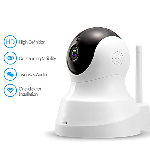 IP Camera – 720P Wireless HD Camera with Two-way Audio, Night Vision Camera, Smart Camera for Pet Baby Elderly Monitor, Home Security Camera Motion Detection Indoor Camera with SD Card Slot