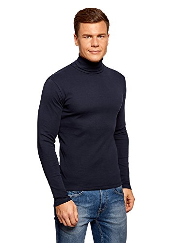 Oodji Ultra Hombre Suéter Cuello Alto Básico Algodón