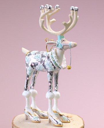 Patience Brewster Geduld Brewster Weihnachten Home Decor Moonbeam Mini Rentier Ornament-Vixen -