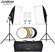 Photography Studio Softbox Lighting Tent Kit Photo Video Equipment 2 * 135W Bulb 2 * Light Stand 2 * Softbox 1