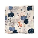 120x120cm mussola bambino fasciatoio bambino fasciatoio cotone 100% neonato asciugamano da bagno swaddle coperte multi disegni funzioni