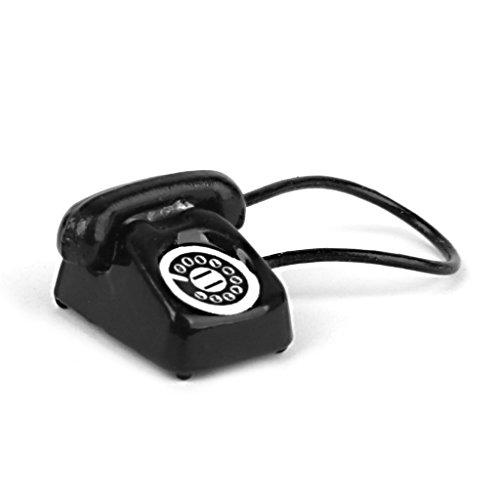 s Miniatur Retro Telefon Schreibtisch Telefon-Schwarz ()