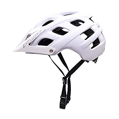 Exclusky Men's Mountain Cycle Helmet - Black/White, Size 56-61cm from Exclusky