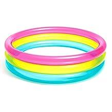 Intex Inflatable Rainbow Baby Pool - 57104 , MULTI COLOUR