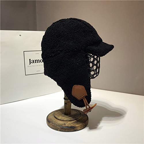 Lamm-bomber (MAFYU Trapper Hut für Männer oder Frauen, Winter Lamm samt Bomber Mütze mit Maske, Skifahren/Fahrt-hagelt und andere Outdoor-Aktivitäten)