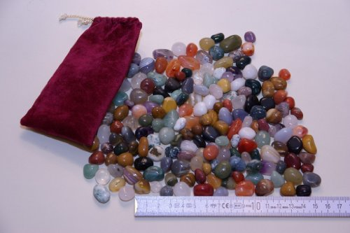 Echte Halbedelsteine, 500 Gramm (Größe ca. 10-15mm)
