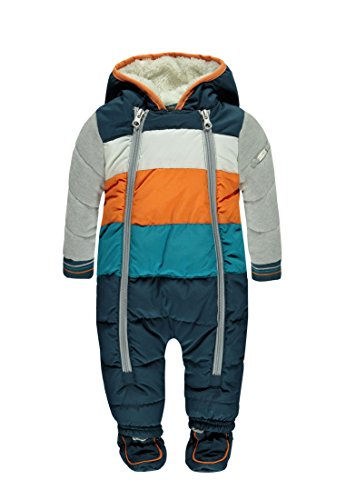Kanz Jungen Schneeanzug Schneeanzug m. Kapuze, Gr. 74, Mehrfarbig (y/d stripe 0001)