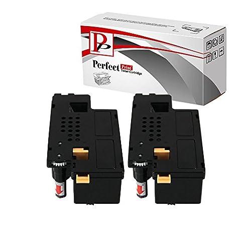 2Compatible Noir Cartouches de Toner pour Imprimante Dell 1250C 1350cnw 1355cn 1355cnw C1760C1760nw C1765C1765nfw