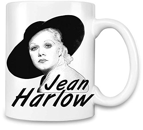 Clubbing Designs Jean Harlow Unique Coffee Mug | 11Oz Ceramic Cup| The Best Way to Surprise Everyone On Your Special Day| Custom Mugs by - Harlow Cup