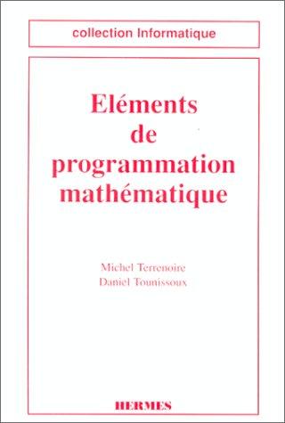 Eléments de programmation mathématique