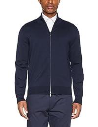 Brooks Brothers Men's maglione In cotone collo Alto Con Zip Jumper