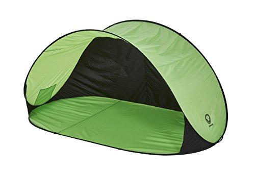 Grand Canyon Venice - Pop Up Strandmuschel / Strandzelt, mit UV40-Schutz, als Sonnenschutz, Windschutz, für Strand, Garten, Camping, schneller Aufbau, grün, 303301