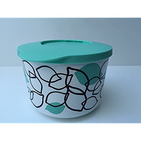 Tupperware secar tarro 800ml 800ml patrón Iluminas verde tapa caja de almacenaje Bingo Tarro