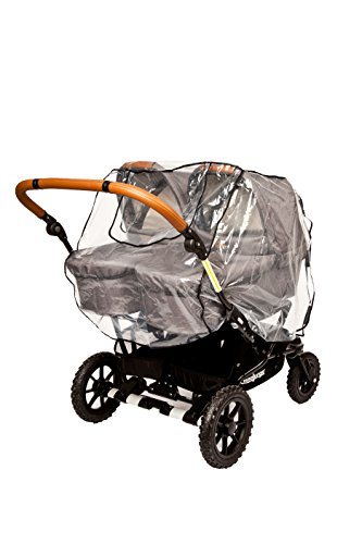 Altabebe AL1407 Regenhaube für alle Zwillingskinderwagen/Zwillingsbuggys, transparent