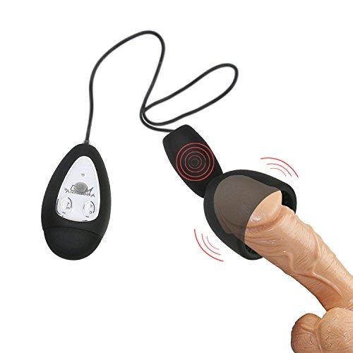Vibrator Massieren den Peniskopf Erektile funktion-training Kontinuierliche Orgasmus (Schwarz)