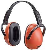 3M Kapselgehörschützer (mit verstellbaren Kopfbügeln für Lärm bis 105dB – Faltbarer Gehörschutz für Erwachsene) orange