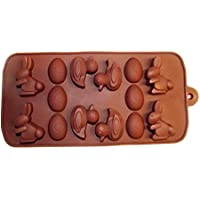 Stampo in silicone Pasqua, uova e anatra