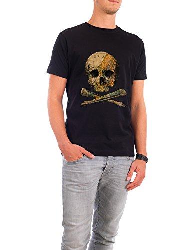 """Design T-Shirt Männer Continental Cotton """"Treasure Map"""" - stylisches Shirt Abstrakt Kartografie von Tobe Fonseca Schwarz"""