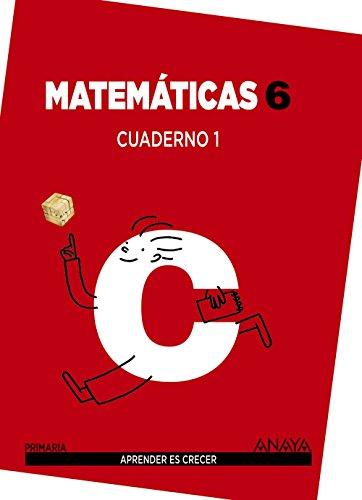 Matemáticas 6. Cuaderno 1. (Aprender es crecer) - 9788467833126