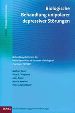 Cover »Biologische Behandlung unipolarer depressiver Störungen«