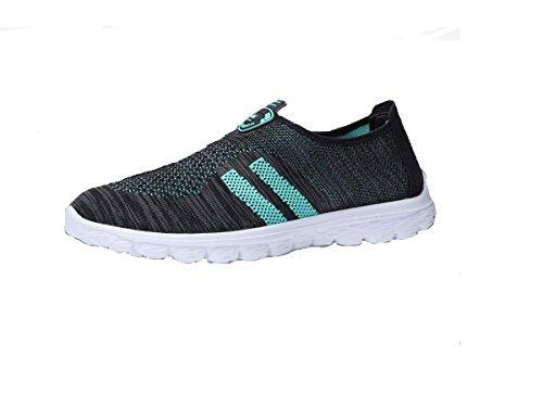 Mesh respirant l'été chaussures couple loisirs sports chaussures surface respirante chaussures occasionnelles black and blue