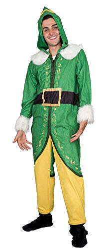Elf Kostüm Buddy - Buddy The Elf Costume Pajama Adult Union Suit