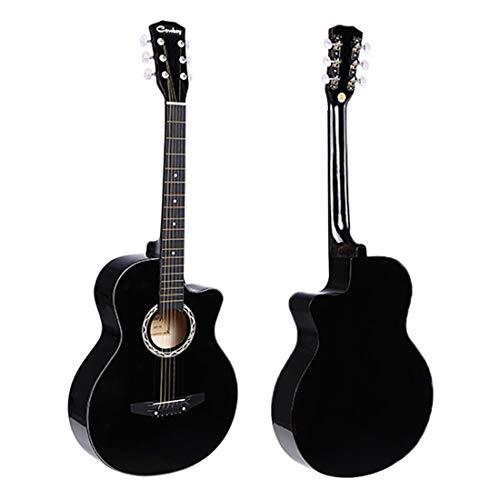 JJOnlineStore, chitarra classica acustica a 6 corde, nera, taglia 3/4, 96,5cm, per principianti, adulti, ragazzi e ragazze, studenti, idea regalo di Natale o compleanno Solo chitarra