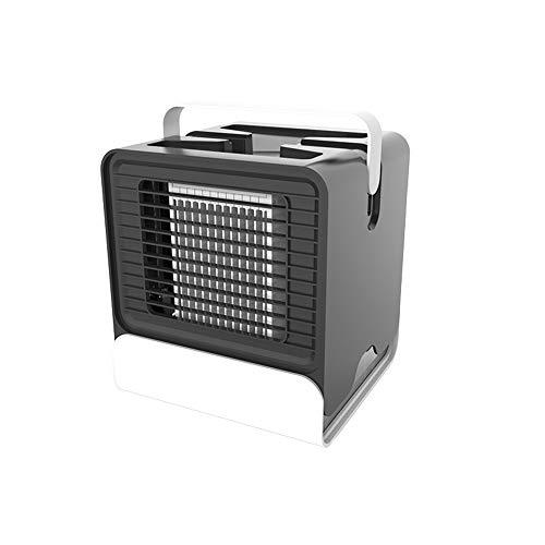XUPHINX Mini tragbare Klimaanlage Fan Noiseless Verdunstungskühler Luftbefeuchter Luftbefeuchter für Zimmer Büro Kinder Schlafzimmer Desktop schwarz