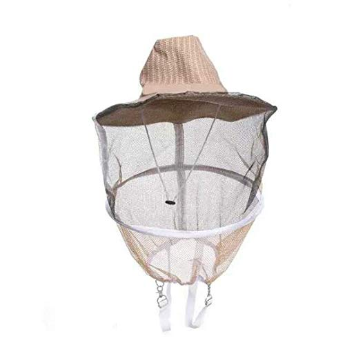 Anti Bienen Gesichtsmasken Hut Imkerei Schutz Kappe Imker Fliegen Insekten Netz Cowboy,Ewendy Belüfteter Hut Unisex Imker Biene Anzug für Professionelle Imker und Anfänger