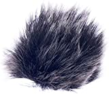 Black Fur Microphone Windscreen for Lapel Lavalier Mic