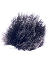 Imported Black Fur Microphone Windscreen for Lapel Lavalier Mic