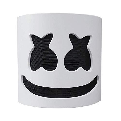 Movein Marshmallow-Maske, Gruselige Horror-Maske für Halloween DJ Mask Party Kostüm Bar Musik Abschlussball Requisiten.