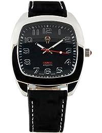 Swiss Emporio SE05BKSL10 - Reloj de cuarzo para hombre, correa de cuero color negro