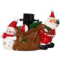 Unbekannt Soporte de Árbol de Navidad de resina decoración Campana Regalos 23x 32x 16cm marrón, rojo, blanco y negro