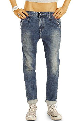 Bestyledberlin Damen Baggy Jeans, Weite Relaxed Fit Baggypants, Loose Boyfriend Hüftjeans j04l 36/S (Jeans Damen Relaxed Fit)