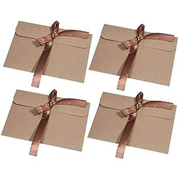 50 Carte Sovrapposte con 50 Buste Corrispondenti Sacchetto di Carta Kraft Marrone Riciclato JAM PAPER Cartoleria Vuota 101,6 x 139,7 mm
