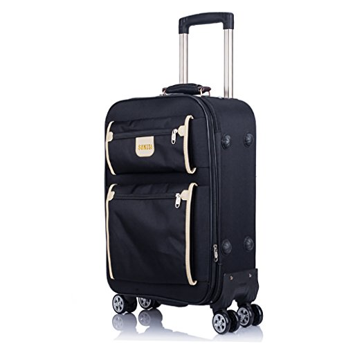 Trolley Koffer Koffer 4 Räder Carry-ons Geschäftsreise Outdoor-Handreisetasche Hohe Kapazität Leichte Drag Bag Handtasche Trunk Passenger Box (Color : Brown, Size : 24 INCHES) -