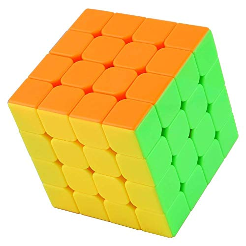 CocoRio Speed Rubik's Cube 4x4x4, High Stability, Sticker-Less, Amazing Stress Reliever Cube Game, Easy Turning and Smooth Play Puzzle Toy, Multi-Colour