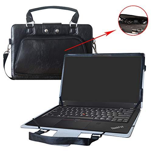 Thinkpad X1 Carbon 5th & 6th Gen Hülle,2 in 1 Spezielles Design eine PU Leder Schutzhülle + Portable Laptoptasche für 14