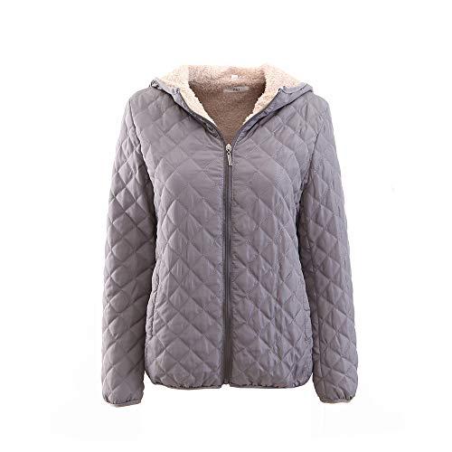 JURTEE Damen 2019 Jacken, Women's Regular Cotton Suit Plus Zipper Zipper Solid Color Warm ()