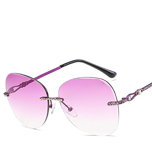Luziang Farbe Ocean Objektive ohne Rahmen Sonnenbrillen Metall Dame Sonnenbrillen Europäische Mode,Fahren, Reisen, Outdoor-Sport