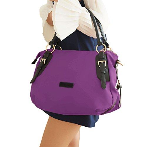 VALIN S851 Nouveau style PU Cuir Sacs portés épaule Sacs portés main,380×180×300(mm) Violet