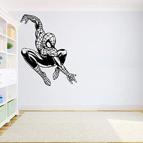 guijiumai Wandtattoo Für Kinderzimmer Vinyl Wandaufkleber Superheld Inspirational Art Decals Schlafzimmer Abnehmbare Jungen Geschenk Rosa 42X53 cm