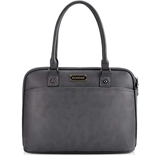 EDODAY Laptop-Taschen-Tasche, 15,6-Zoll-Computer-Beutel-Schulter-Laptop-Taschen-Kasten für Arbeit Einheitsgröße E.Gray -