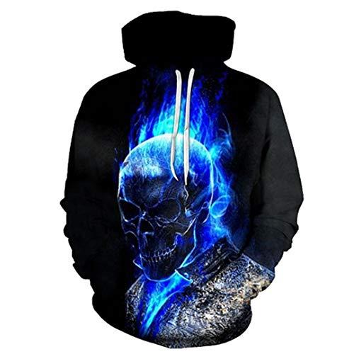 Cartoon Schädel 3D Hoody Anime Hoodies Lustige Sweatshirts Männer Trainingsanzug Schwarz Pullover Streatwear Tuch Unisex LMWY-407 XXS