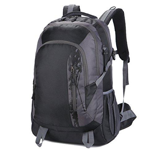Yy.f Taschen Wandern Tagesrucksack Ultra-light Outdoor-Reisen Camping Radfahren Wandern Schüler Rucksäcke. Multicolor Black