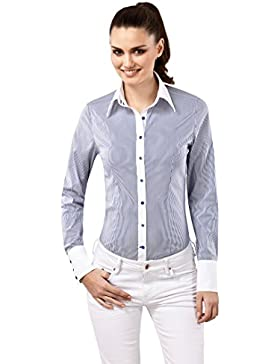 Vincenzo Boretti Camisa Mujer  Blanco / Azul Marino ES 36 (DE 34)