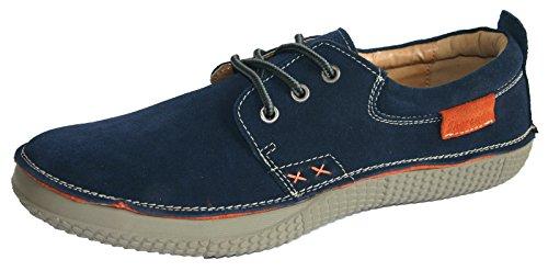 Shoreside Casual Trainer Stil Wildleder Leder Boot Segeln Deck Schuhe Größen 7–11 Dunkelblau